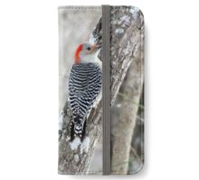 Red-bellied Woodpecker in the Forest iPhone Wallet