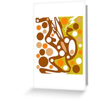 Brown and orange decor Greeting Card