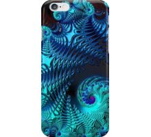 Blue Wave - Fractal Art  iPhone Case/Skin