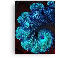 Blue Wave - Fractal Art  Canvas Print