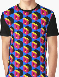 Letter D Isometric Graphic Graphic T-Shirt