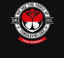 People of Tomorrowland country Flags logo Badge -Indonesia - Indonesian - Indonesie - Jakarta Women's Fitted Scoop T-Shirt