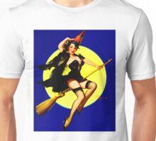 """""""HALLOWEEN WITCH"""" Vintage Elvgren Pinup Print Unisex T-Shirt"""