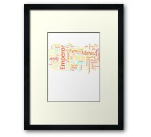 Final Fantasy II Word Cloud Framed Print