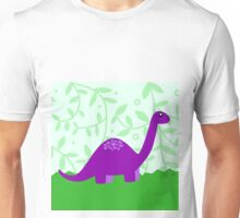 Purple Dino Unisex T-Shirt