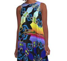 Sunset pattern A-Line Dress