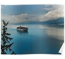 Container Ship Entering Vancouver Harbour Poster