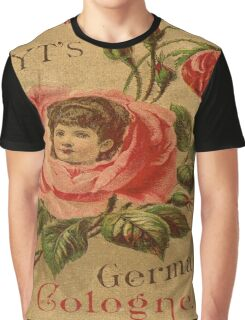 Vintage,rustic,grunge,rose,cute,poster,art nouveau,old commercial for perfume Graphic T-Shirt