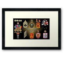 William L Koepke's Military Memorial Framed Print