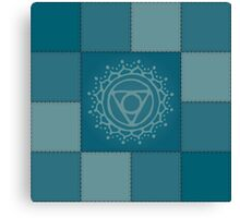 Patchwork - throat chakra Canvas Print