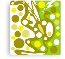 Green and yellow decor Canvas Print