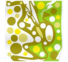 Green and yellow decor Poster