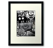 I AM REBEL Framed Print