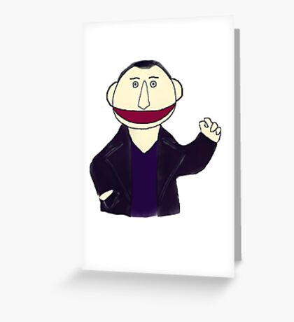 Ninth Doctor Muppet Style Greeting Card