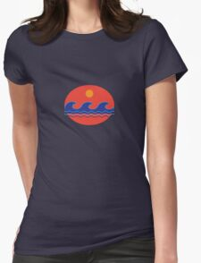 Waves + Sunset Womens Fitted T-Shirt