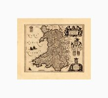 Map Of Wales 1655 Unisex T-Shirt