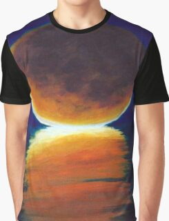 Blood Moon on the Nights Water Graphic T-Shirt