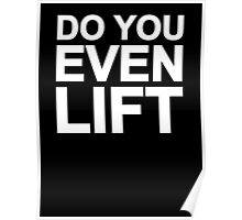 Do You Even Lift Poster