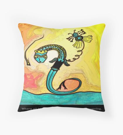 Self Portrait With Magic Throw Pillow