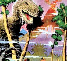 Weird Science Fiction Dinosaur, rockets, pulp fiction Sticker