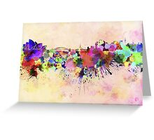 Sydney skyline in watercolor background Greeting Card