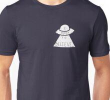 I Want To Believe UFO Doodle Unisex T-Shirt