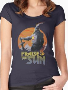 SUNBRO Praise the Sun  Women's Fitted Scoop T-Shirt