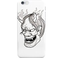 Oni traditional Tattoo Black and White iPhone Case/Skin