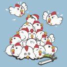 Cucco Pile On by KaisCanvas