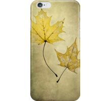 Two autumn leaves iPhone Case/Skin