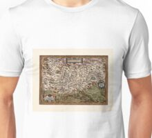 Map Of Transylvania 1566 Unisex T-Shirt