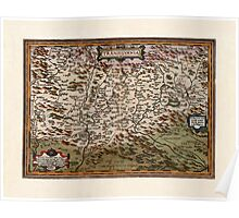 Map Of Transylvania 1566 Poster