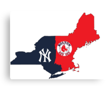 MLB Rivalry Map Canvas Print