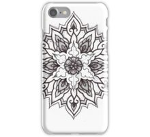 Traditional Mandala Flash Black and White iPhone Case/Skin