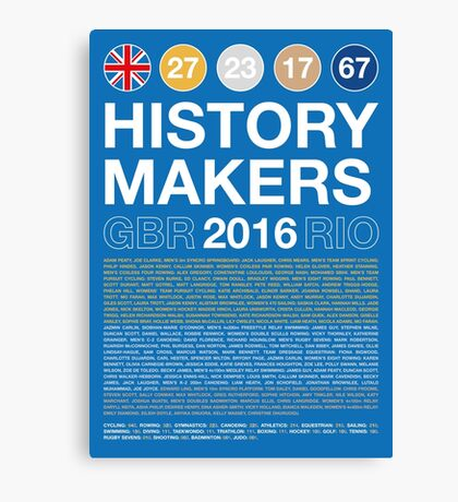 History Makers GB 2016 Canvas Print