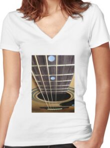 Chordless Women's Fitted V-Neck T-Shirt