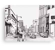 1947 Street Scene by Kevin Dellinger Canvas Print