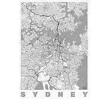 Sydney Map Line Photographic Print