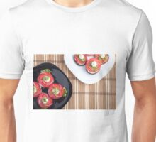 Top view of a vegetable dish Unisex T-Shirt