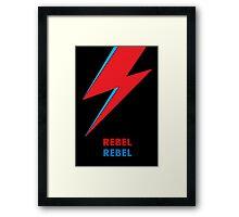 """David Bowie """"Rebel Rebel"""" original design Framed Print"""