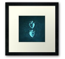 Double Heart Framed Print