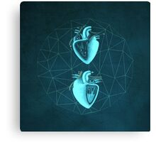 Double Heart Canvas Print