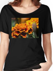 Orange Flower Women's Relaxed Fit T-Shirt