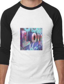 Graffiti with Love Men's Baseball ¾ T-Shirt