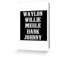 All Star Country Legend  Greeting Card