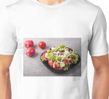 Small bowl of salad made from natural raw vegetables Unisex T-Shirt