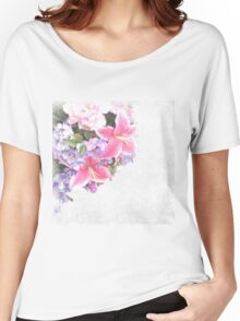 Flower,floral,double exposure,digital photo,trendy,modern Women's Relaxed Fit T-Shirt