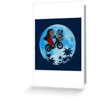 Stitch Phone Home Greeting Card