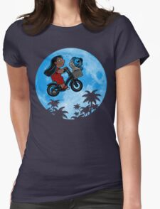 Stitch Phone Home Womens Fitted T-Shirt