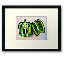 Poblano Pepper Framed Print